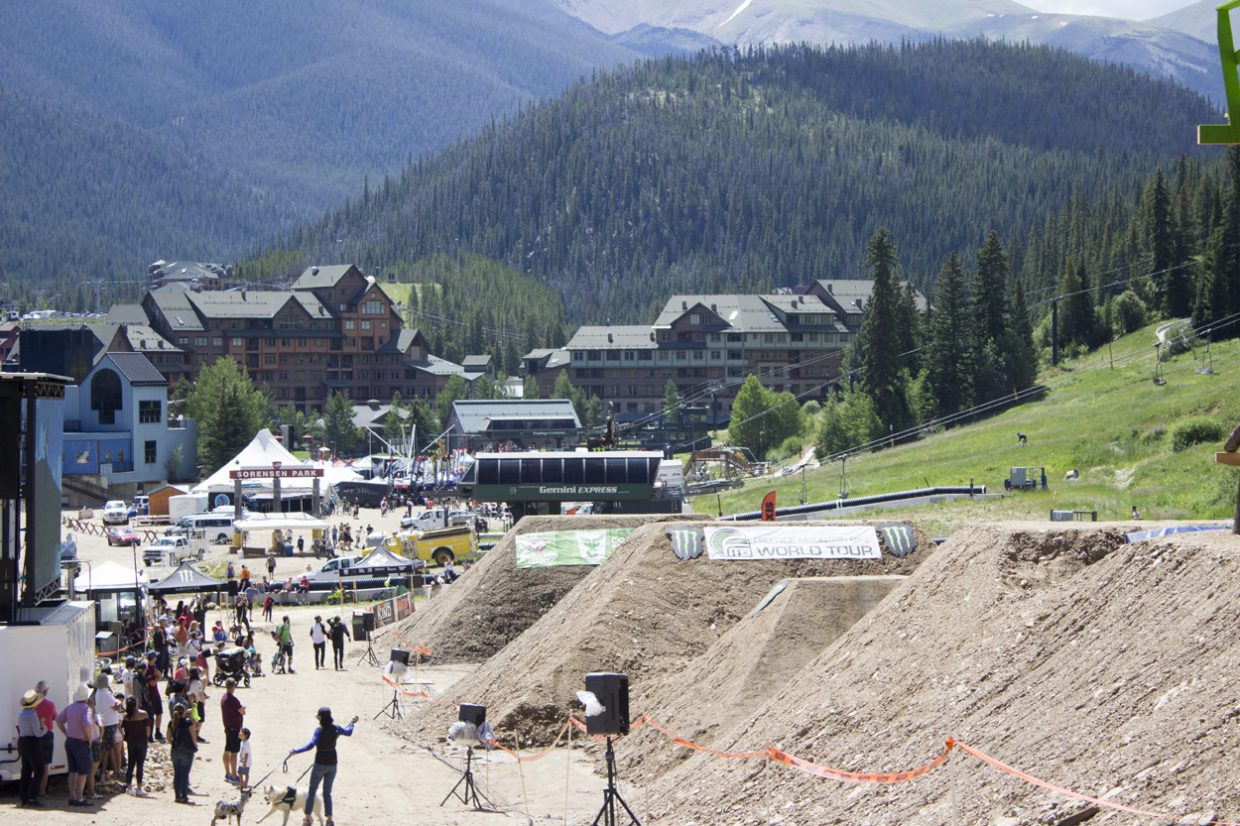 The Slopestyle course is at Sorensen Park, overlooking the rest of the festival village at Winter Park Resort. Sawyer D'Argonne / Sky-Hi News.
