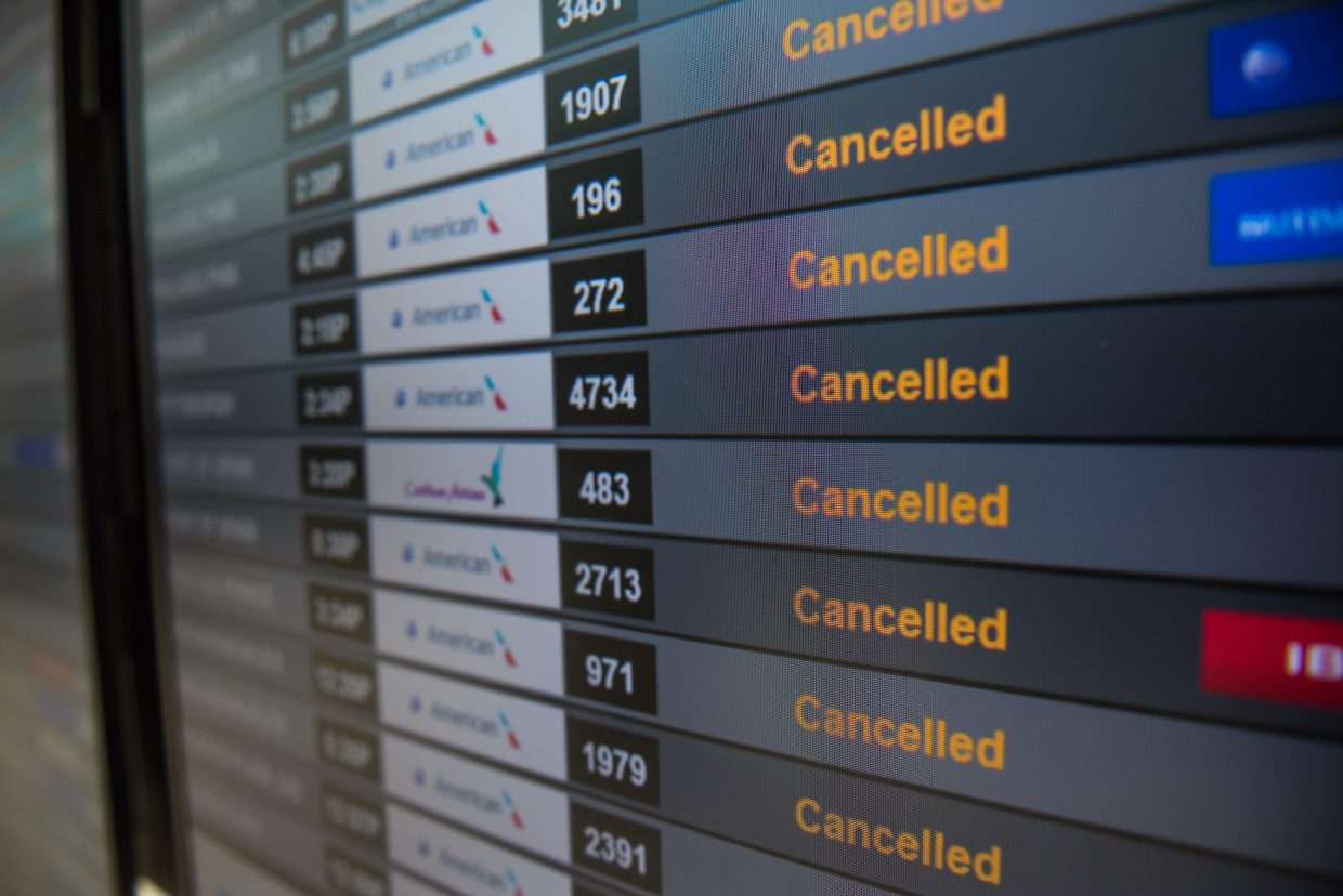 Dozens of flights into Florida were cancelled in the wake of Hurricane Irma. (Photo by Tyler Tomasello)