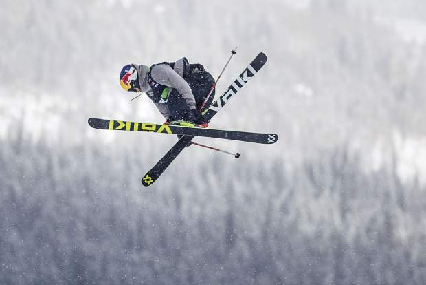 Nick Goepper of the United States competes in the slopestyle qualifiers during the Dew Tour event Thursday, Dec. 14 at Breckenridge Ski Resort. Goepper placed first in qualifiers with a high score of 90.33.