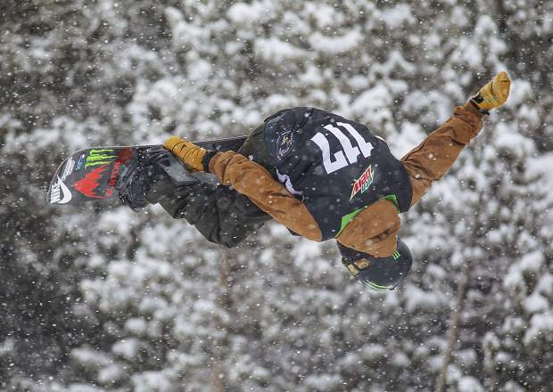 Ayumu Hirano of Japan competes in the snowboard superpipe qualifiers during the Dew Tour event Thursday, Dec. 14, at Breckenridge Ski Resort. A week after winning the U.S. Grand Prix superpipe event at Copper Mountain, Hirano qualified for Friday's Dew Tour superpipe final with a score of 73.00.