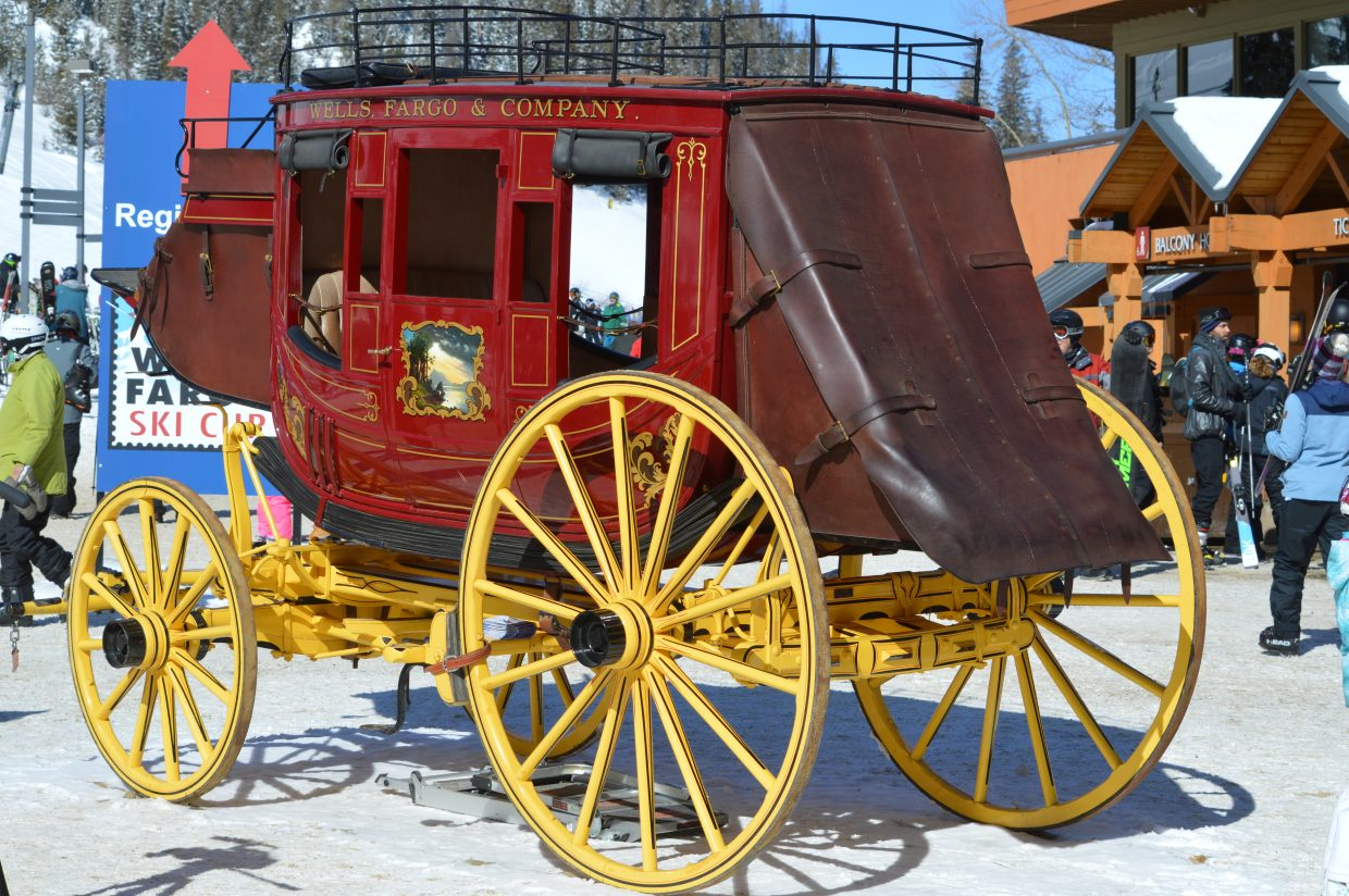 Wells Fargo, the biggest sponsor of the event, made sure to bring its iconic stagecoach to the village.