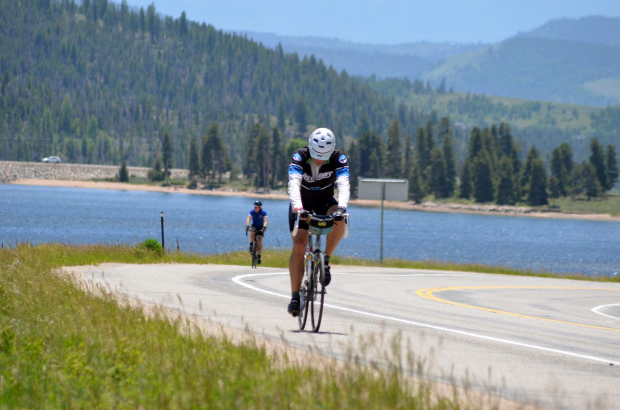 Some riders were struggling Wednesday on the fourth, and longest, day of Ride the Rockies.