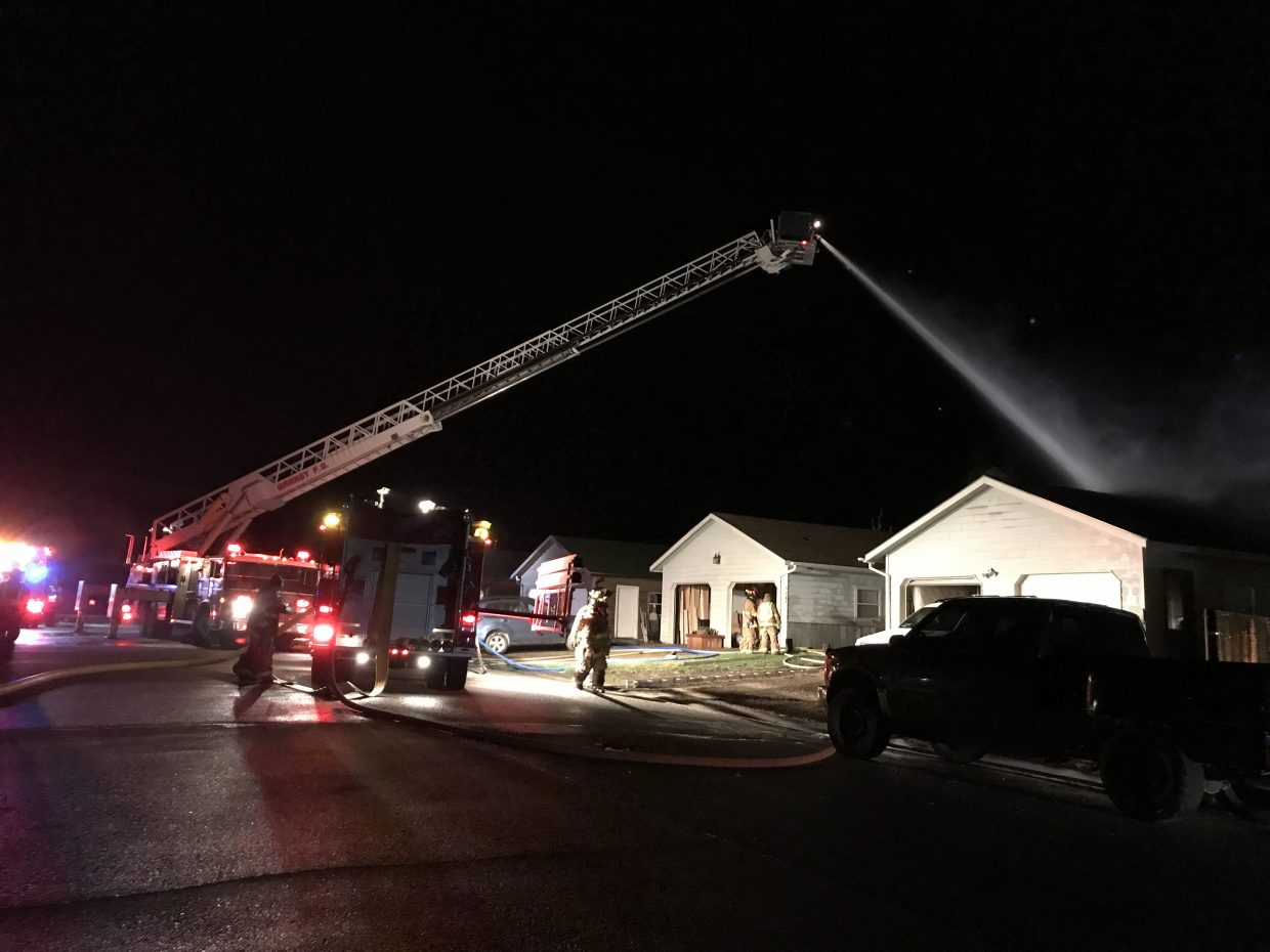 The fire started around 9 p.m. on Sunday, but crews fought the flames through the night.