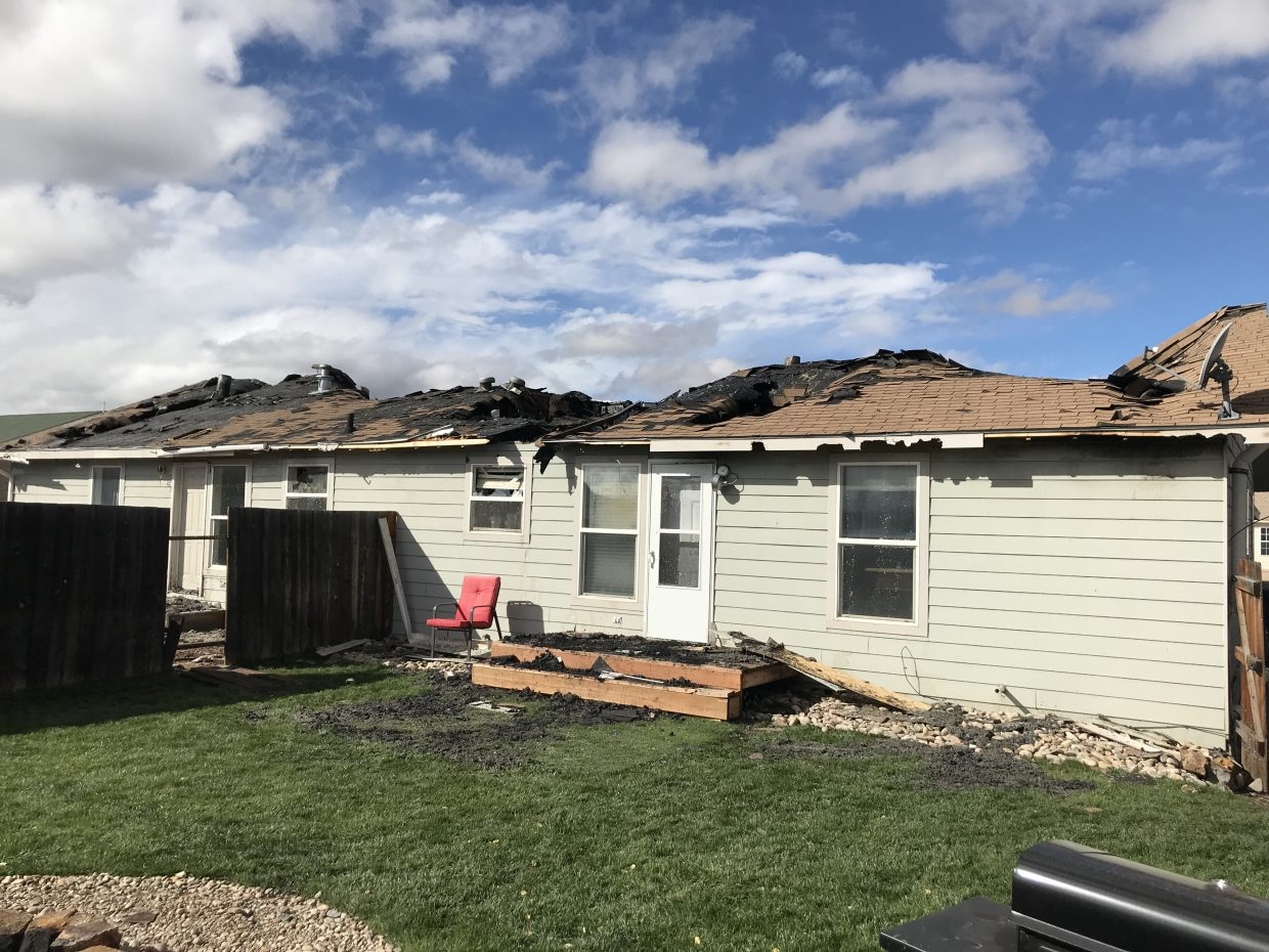 Significant damage was done to the roof of the building and the structure is likely to be a complete loss.