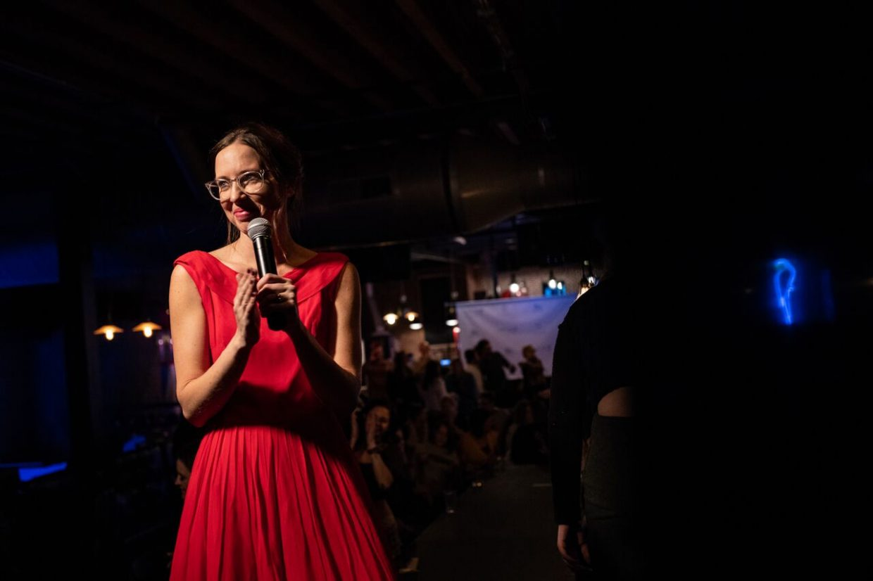 Abbey Samuelson, owner of Lavender Elephant and host of the show, shared her love for eco-conscious consumerism with the audience.