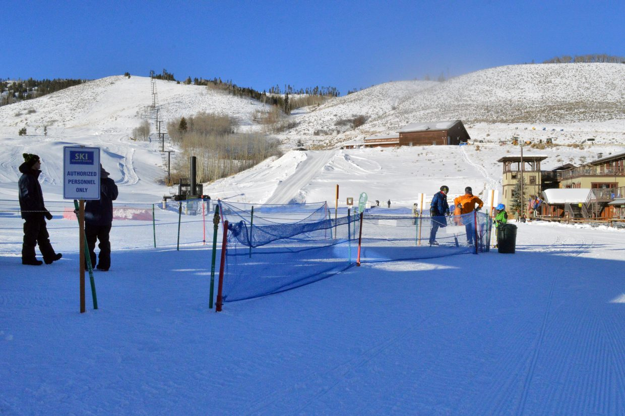 Half of Ski Granby Ranch's 24 runs were open Friday on opening day.
