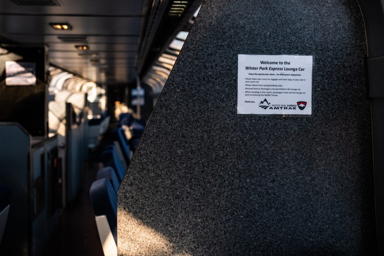 The train runs each Saturday and Sunday through March 31, as well as round-trips on the first two Fridays of each month from January to March.