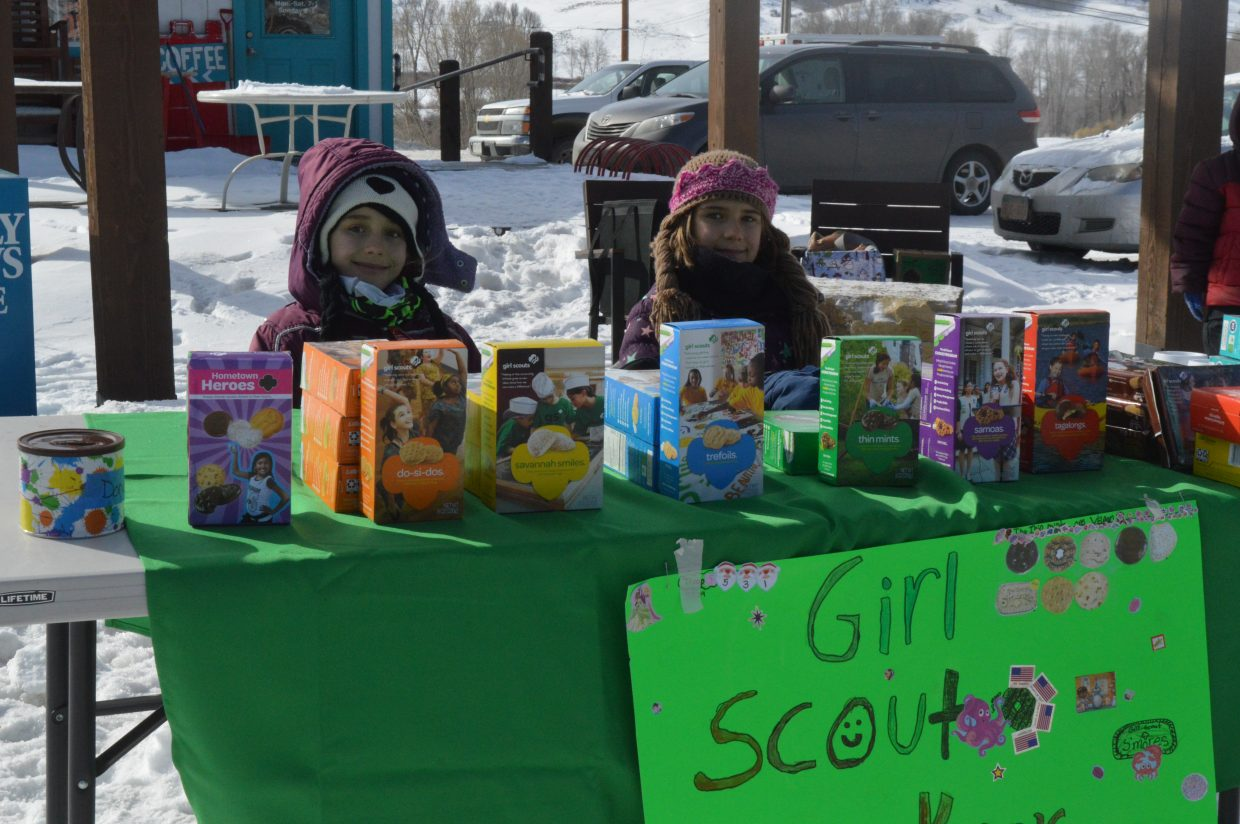 Annabelle, 8, and Leah, 6, Scott are members of Troop 55319.