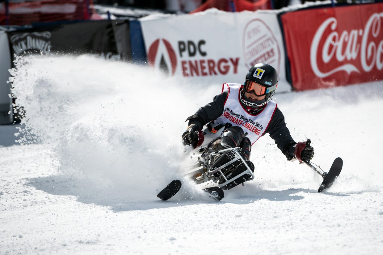 At the 44th Annual Wells Fargo Ski Cup, held Feb. 22-24 at Winter Park Resort. The event is the largest fundraiser for the National Sports Center for the Disabled.