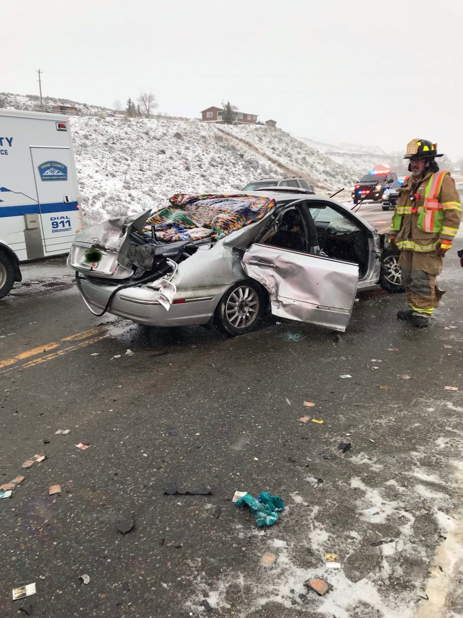 2 vehicle crash on US 40 near Parshall results in multiple
