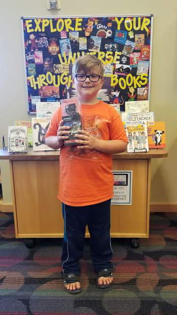 Ian Yeast of the Granby Library was one of the prize winners after completing the Grand County Library District's Summer Reading Program.
